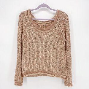 Free People Sahara Star Open Knit Sweater